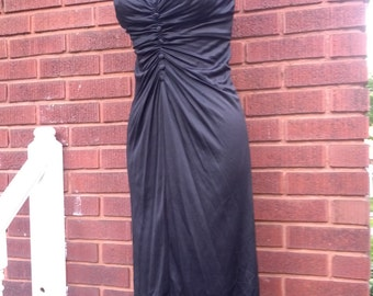 Vintage 70s Ultimate Black Disco dress size x small
