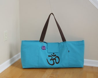 xlarge Yoga Bag with Om symbol and  Quilted lining-Made to Order .
