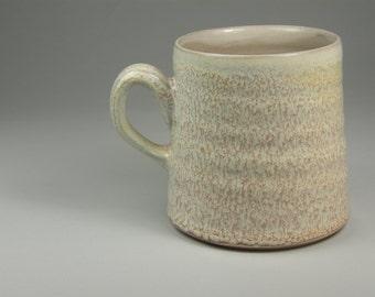 pink granite wheel thrown mug