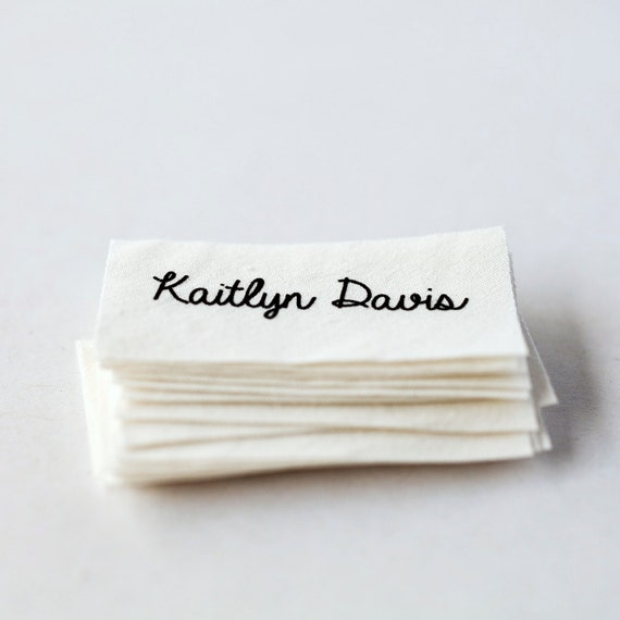 Sew on name tags clothing labels white organic cotton for How to sew labels on clothes