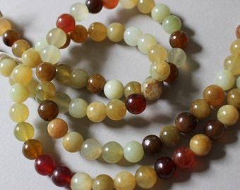 Multi Color Agate 10mm Round Full Strand