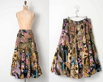 vintage african print skirt / vintage ethnic skirt / Namibia