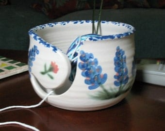 Free Shipping-Yarn Bowl in Our Blue Bonnet Design