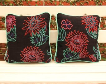 Was 122 now on clearance TWO San Cristobal Collection Embroidered sham cushion pillows