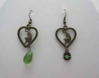 Green Tiger Earrings