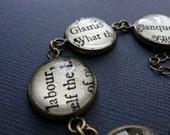 Macbeth Bracelet, Shakespeare, Clever, Teacher Gift
