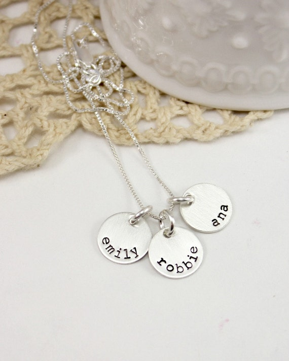 Name Necklace - Sterling Silver Necklace - Mommy Jewelry - Mom Necklace - Kids Names - Layer Necklace - Childrens Names - tagyoureitjewelry