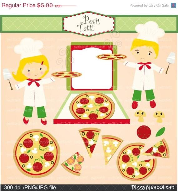 ON SALE pizza clip art- food clip art, Digital clip art for all use, Pizza party, invitation, clip art, INSTANT Download Digital clip art