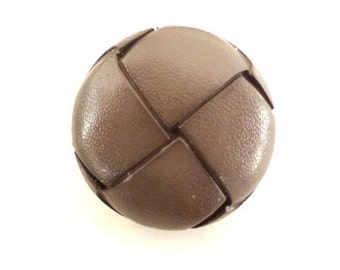 Grey Faux Leather Button (00425)*Available in Quantity*