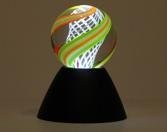 LIGHTED!! Marble Stand -Hot Glass or Paper Weight Acrylic Stand!! special MS71