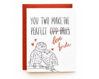 Oddballs - letterpress card