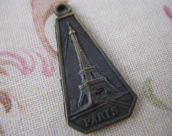 Paris Eiffel Tower French Pendant Bronze Charms Jewelry Supplies GL2