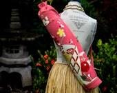 Salmon Silk Kimono Yoga Mat Bag