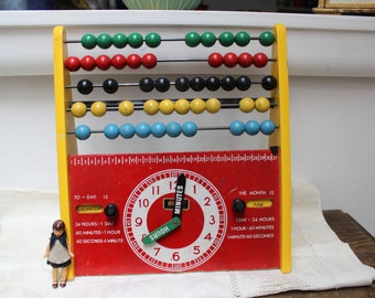 Brio Abacus Learning Clock Counting Frame Educational Toy Sweden VINTAGE by Plantdreaming