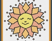 PDF Download - Ditsy Sun - An Original Cross Stitch Design, from the Artwork of Amy-Elyse Neer