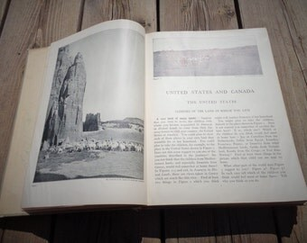 Antique Geography of United States and Canada Book 1920s