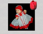 baby dress, doll clothes,  preemie clothes,  crochet baby dress,  crochet doll clothes,  preemie dress, doll dress, baby clothes,