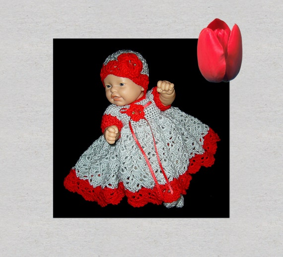 baby dress doll clothes preemie clothes crochet baby