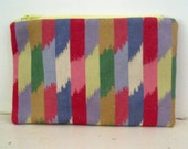 Multi Coloured Fully Lined Zippered Bag Fully Lined Zippered Bag