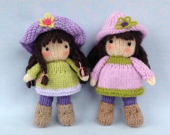 Little Belles Doll knitting pattern - INSTANT DOWNLOAD