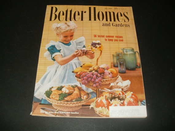 Vintage Better Homes And Gardens Magazine July 1955 Retro