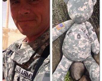 Military custom memory bear Army memory gift