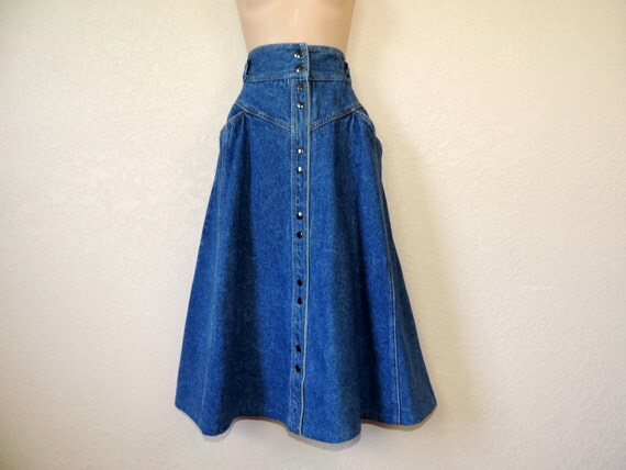 1970 s gloria vanderbilt denim skirt blue jean by