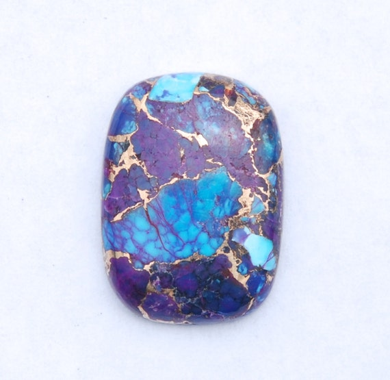 Kingman Purple and Blue Turquoise Infused with Bronze Cabochon