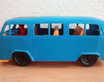 Vintage Volkswagen Blue Plastic Bus - Western Germany