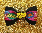 BOOM! Geeky Gal Comic Book Hair Bow - Geek Chic - Nerd - Cosplay