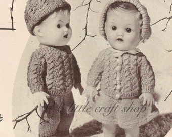 Dolls' clothes knitting pattern. Instant PDF download!