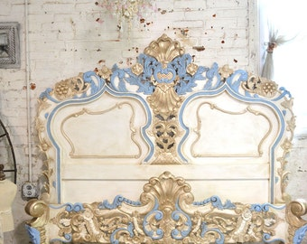 Painted Cottage Shabby French Romantic Rococo Queen / King Bed BD22