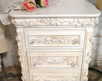 Painted Cottage Shabby Romantic Night Table NT792