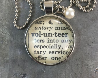 Dictionary Word Necklace - Volunteer