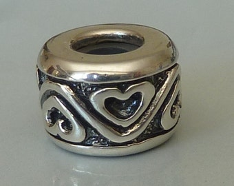 Sterling Silver European Stopper Charm Bead