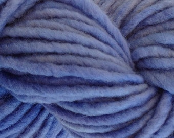 Bulky /Chunky Weight Hand Painted Wool Yarn Pencil Roving in Crocus Blue 60 yards