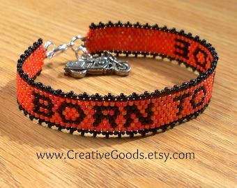 Born to Ride - Bracelet Pattern - Peyote Pattern