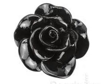 Black Rose Cabochon Ring