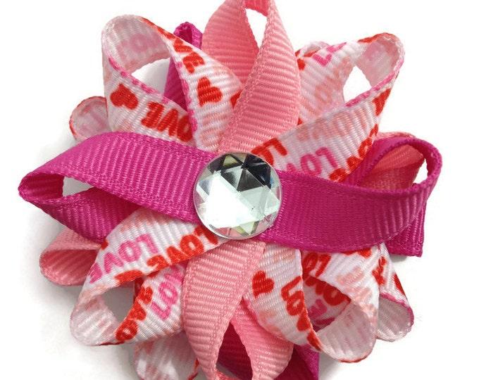 Pink Love Handmade Hair Bows