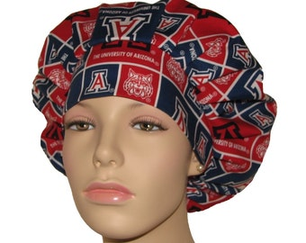 Scrub Hats - University of Arizona Wildcats Block Fabric