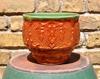 Vintage Hull Planter Jardiniere with H in Circle 1920s to 1930s Early Hull Planter
