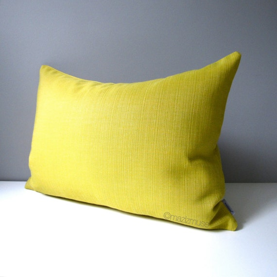 Bright Yellow Decorative Pillows : Acid Yellow Outdoor Pillow Cover Decorative Pillow by Mazizmuse