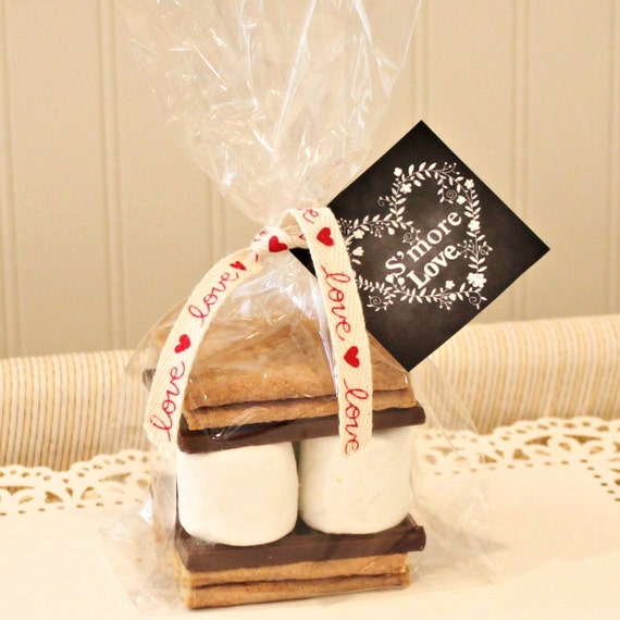 Wedding Favor Tag Kit : Favor Kit, 12 SMORE LOVE Favor Kits, Smore Love Tags, Rustic Weddin...