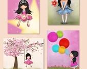 Kidswallart, Illustration, Kids room decor, Children, kids art, Girls wall posters