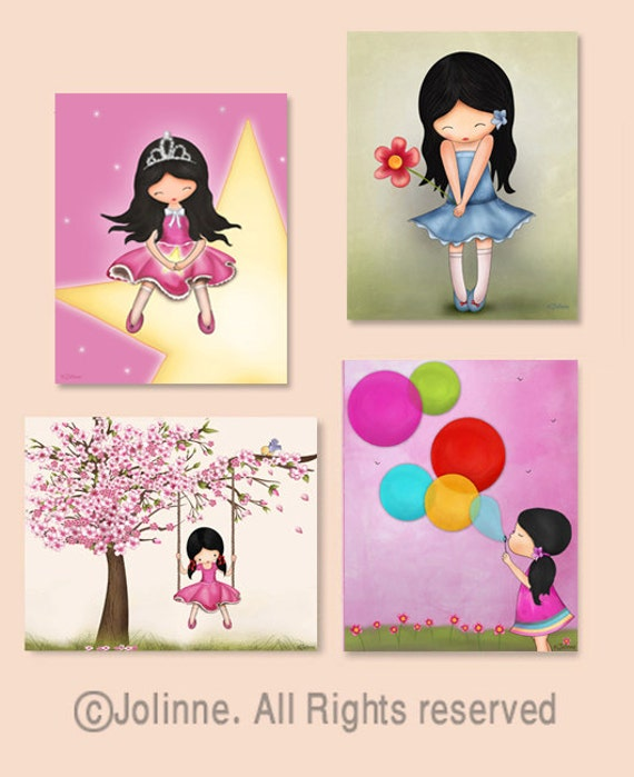 Kidswallart, Illustration, Kids room decor, Children, kids art, Girls wall posters