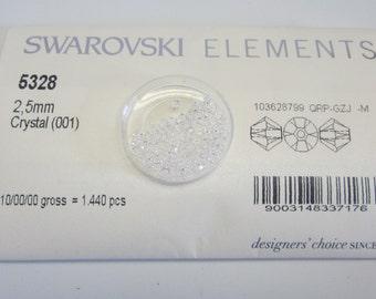 2.5mm Swarovski 144pc Crystal Bicone 5328