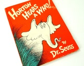 Horton Hears A Who by Dr. Seuss 1954 Hc / Oversized Vintage Childrens Book