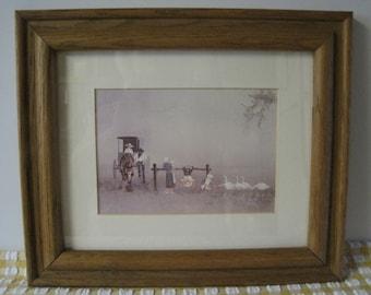 "Steve Polomchak Print - Amish Family - ""Happiness Is"" - Framed"