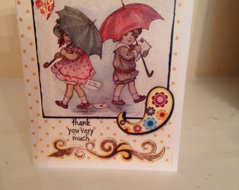 Handmade Greeting Card - Thank You