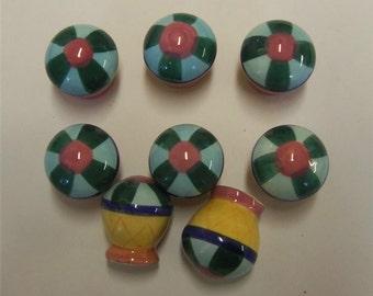 8 Ceramic Balloon Knobs Nursery Childs Room